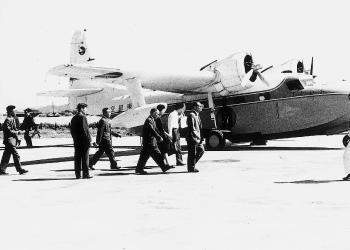 岡山空港開港式(1962[昭和37]年)