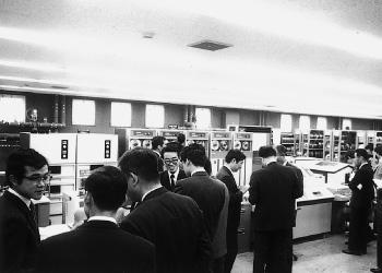 両備システムズ豊成本社マシン室完成披露会(1973[昭和48]年)