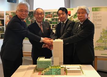 旧イトーヨーカ堂跡地開発プロジェクト「杜の街づくりPJ1合同会社」に出資記者会見(2018[平成30]年)