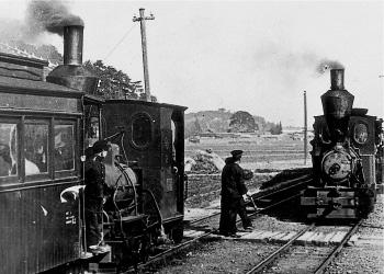 1911年(明治44年)西大寺鉄道 1911[明治44]年に西大寺軌道㈱が西大寺-長岡間で運行開始