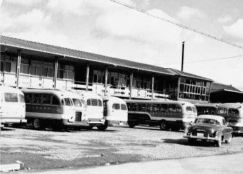 両備バスの新社屋(旧錦町本社)が完成