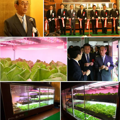 植物工場ミニプラント「やさい蔵(ぐら)」発表