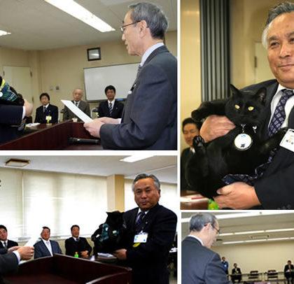 ネコ社員「ポート」委員長に昇格 -驚異の2年間無事故記録継続中-