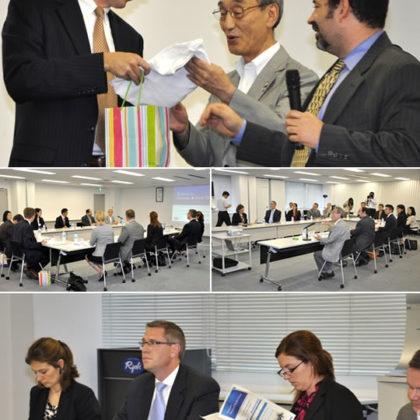 日米青年政治指導者交流プログラムの米国上下両院議員等が両備HDに来訪!