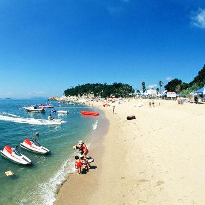 小豆島のプライベートビーチで楽しむアウトドアライフ