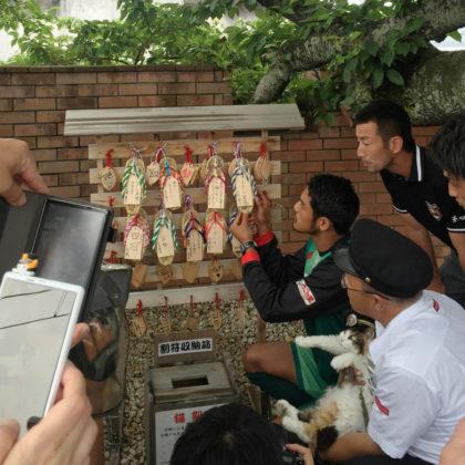 和歌山電鐵が足守神社の伝統催事「御夢想灸(ごむそうきゅう)」告知イベントを「たま神社」にて開催