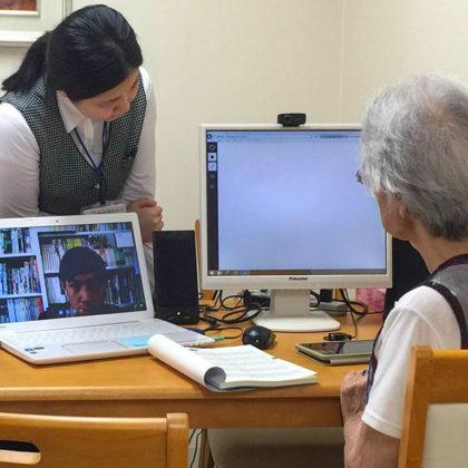 両備ヘルシーケアと倉敷芸術科学大学の共同企画ー高齢者施設の入居者が留学生の日本語の先生に