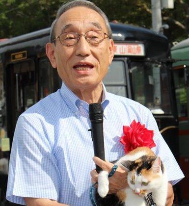 防犯広報電車・出発進行! – 日本一、安全・安心なまちづくりに向けて –