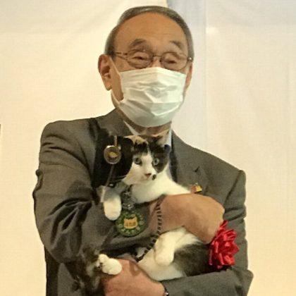 「たま駅長4」が「道の駅 四季の郷公園」の名誉駅長ニャン!